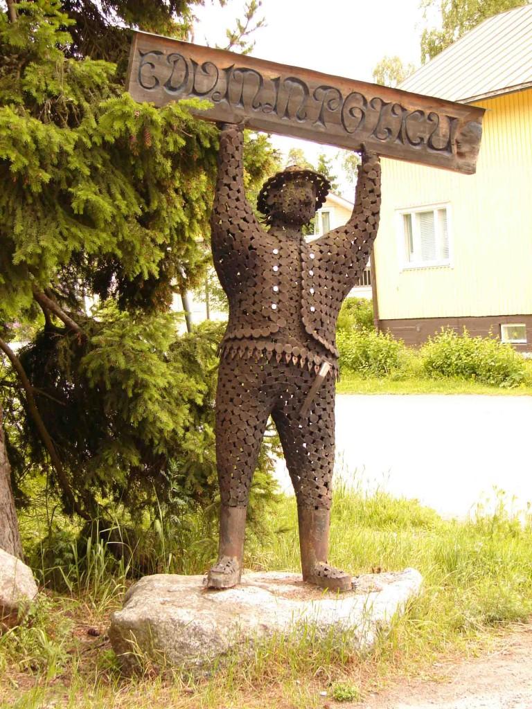 EDVININPOLKU - парк скульптуры из металла