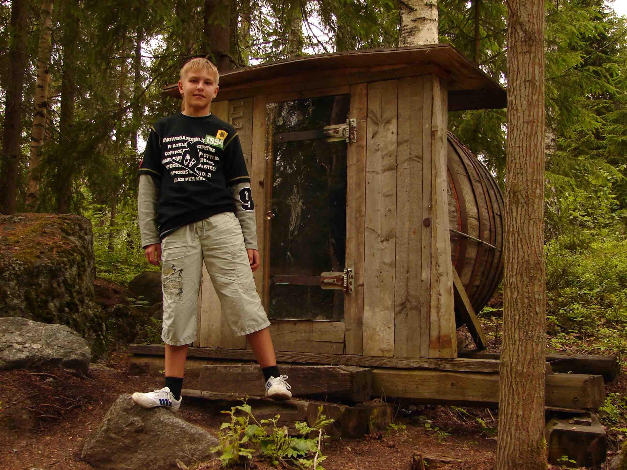 Лесная сауна с украинским Sauna Tonttu